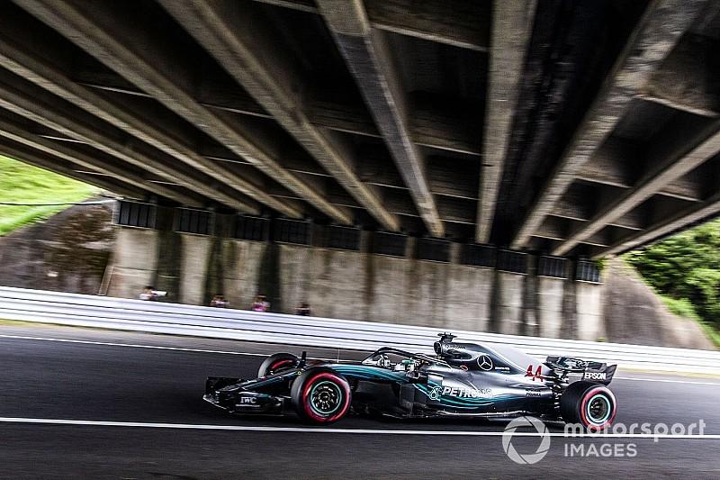 Hamilton y Mercedes aplastan a sus rivales en los libres 2 de Suzuka