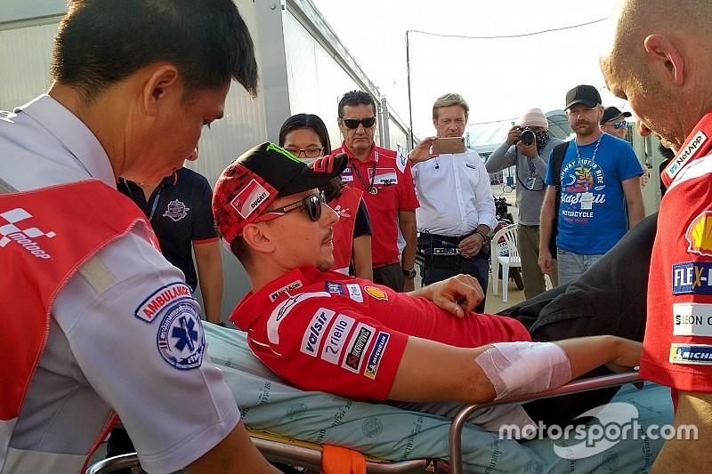 Lorenzo, korkunç kazanın ardından muhtemelen Tayland yarışını kaçıracak