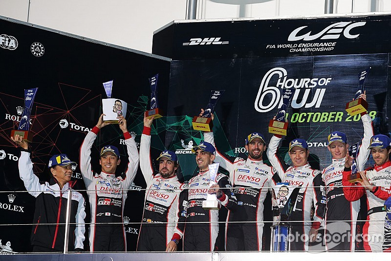 """WEC富士6小时:丰田7号车组赛季首胜,成龙DC车队LMP2组""""二连胜"""""""