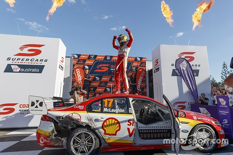 Newcastle Supercars: McLaughlin sacrifices win to seal title