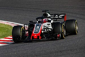 Fire cost Grosjean telemetry in Japanese GP