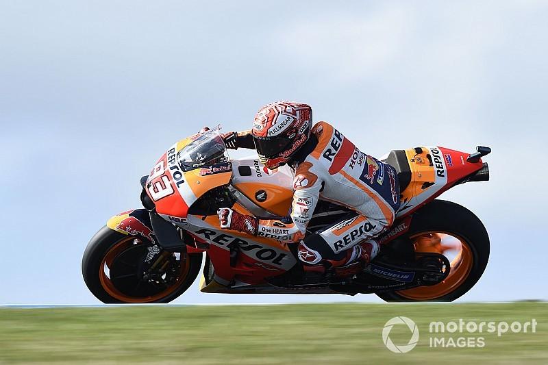 MotoGP, Phillip Island: la pioggia rilancia Marquez che si prende la pole