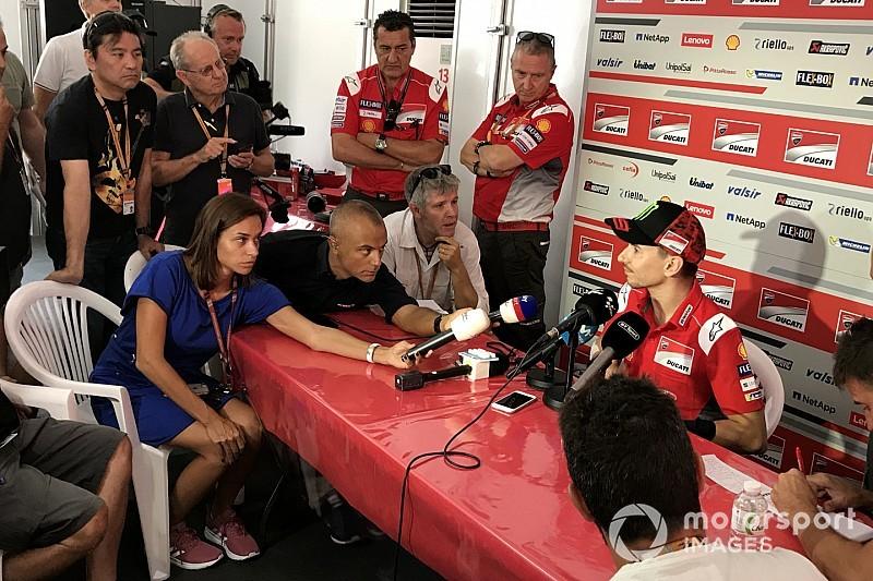 """Lorenzo: """"Sono meno ottimista oggi a pensare di correre qui che giovedì in Thailandia"""""""