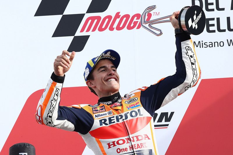 Marquez says wet Misano practices crucial to his latest MotoGP win