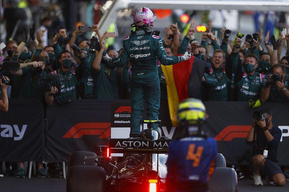 "Vettel, primer podio con Aston Martin: ""Estoy en la luna"""
