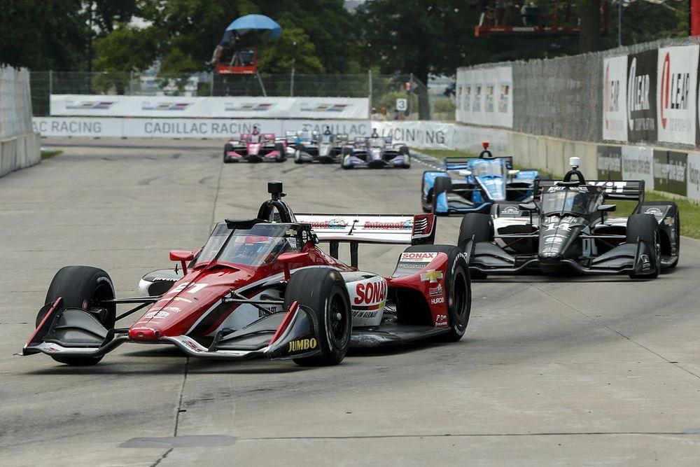 VIDEO: Een rondje IndyCar-onboards in Detroit, wauw!
