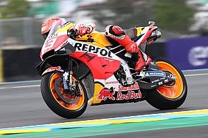 MotoGP, Le Mans, Libere 3: Marquez ok sull'umido, Bagnaia in Q1