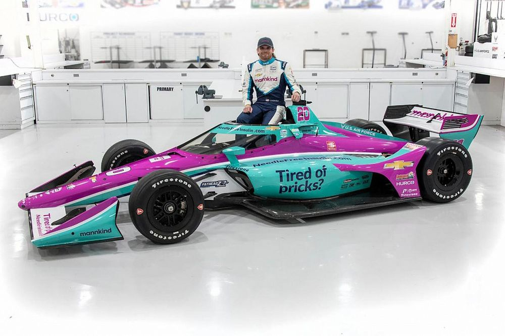 """""""Tired of pricks?"""" message for Daly's car in GP Indy"""