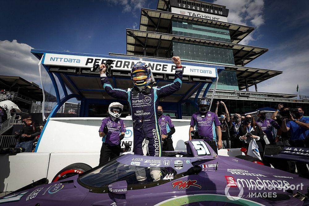 Grosjean pakt eerste pole-position in IndyCar Series
