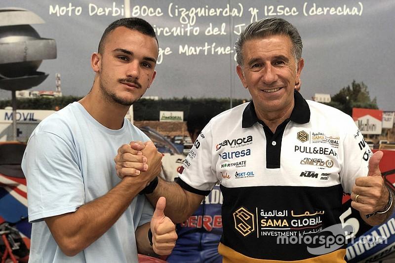 Aron Canet debutta in Moto2 nel 2020 con il Team Angel Nieto