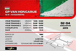 Hoe laat begint de Grand Prix van Hongarije?