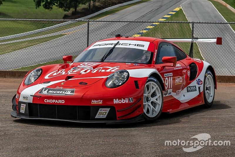 Fotogallery: la bella livrea Coca-Cola della Porsche nell'IMSA