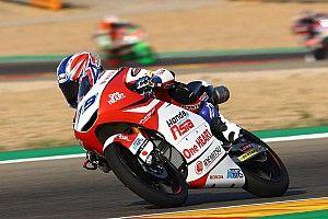 Moto3アラゴン決勝:小椋藍、2位でキャリア初の表彰台獲得! カネット3勝目