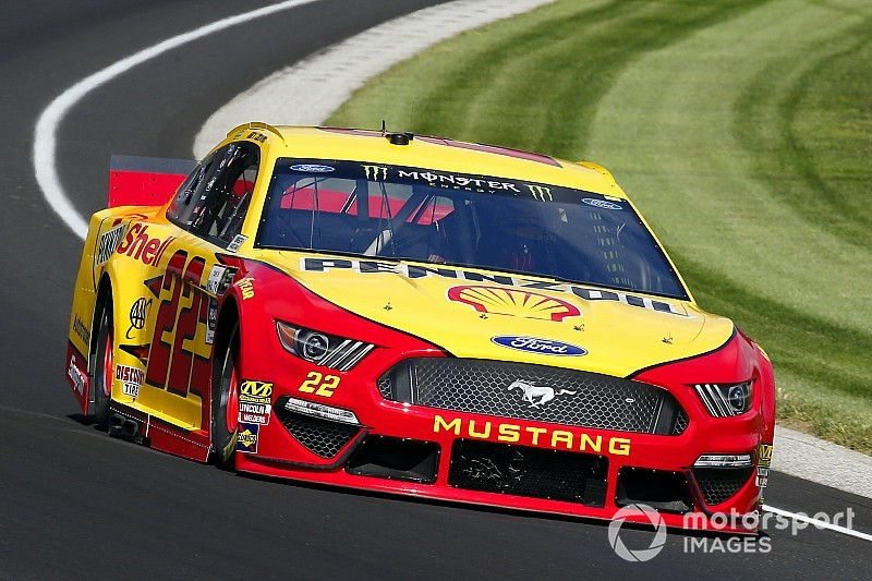 Logano takes Stage 1 win at Indy as Keselowski wrecks hard