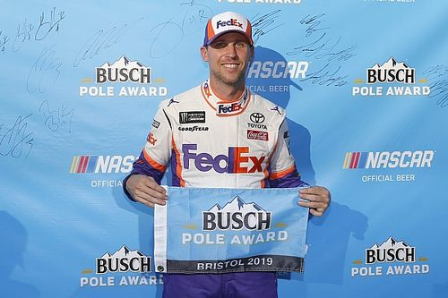Denny Hamlin gives Toyota its first Cup pole of 2019 season