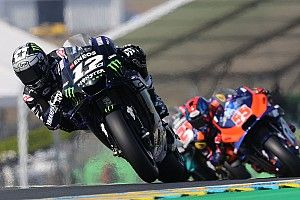 Le Mans MotoGP: Vinales tops crash-filled FP2