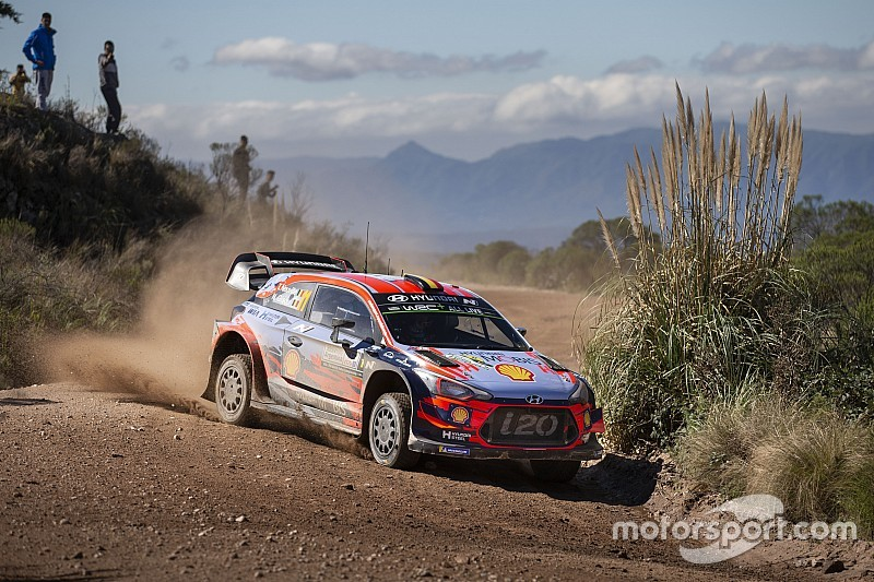 Argentina WRC: Neuville leads Hyundai 1-2, Tanak out