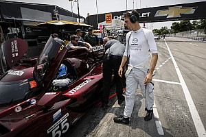 Detroit IMSA: Tincknell's Mazda leads raceday warm-up