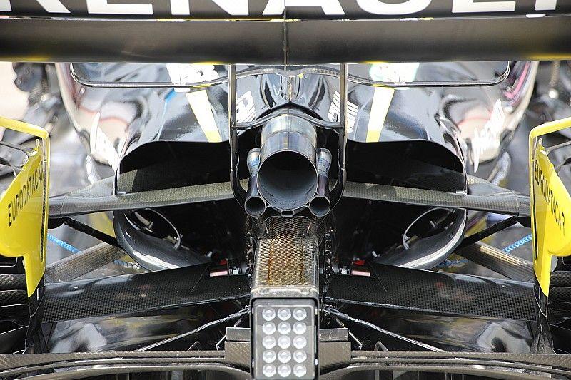 Renault e Racing Point aprono gli sfoghi delle pance per combattere l'aria rarefatta