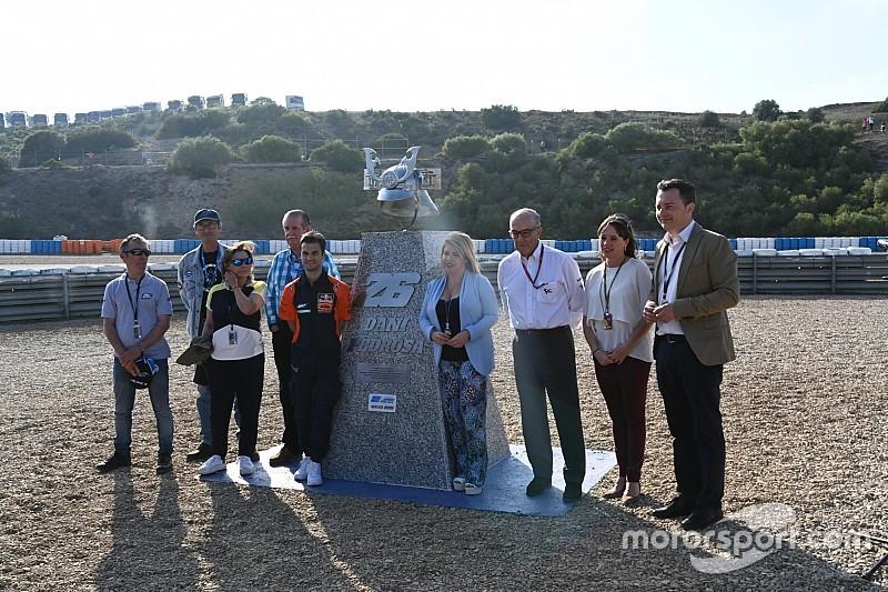 Jerez descubre un monolito en la nueva curva Dani Pedrosa