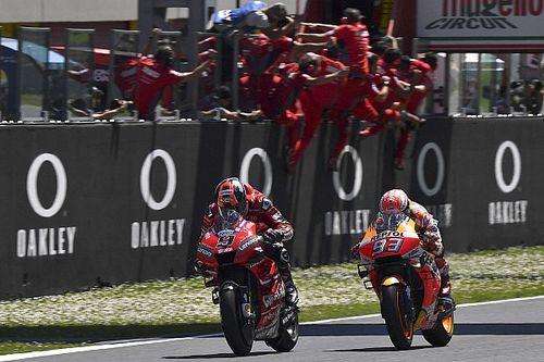 MotoGP Italia: Petrucci taklukkan Marquez, Rossi terjatuh