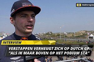 """Verstappen blij met Dutch GP: """"Als ik maar boven op podium sta"""""""