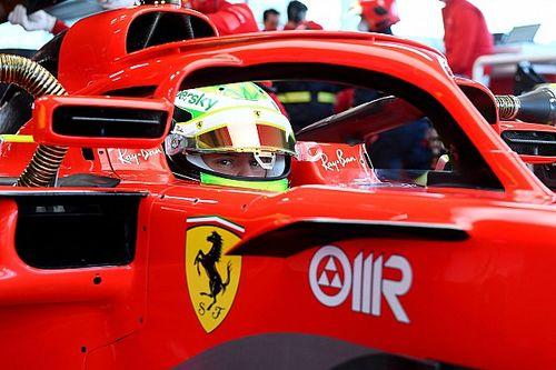 Ferrari: Mick Schumacher in pista a Fiorano con la SF71H