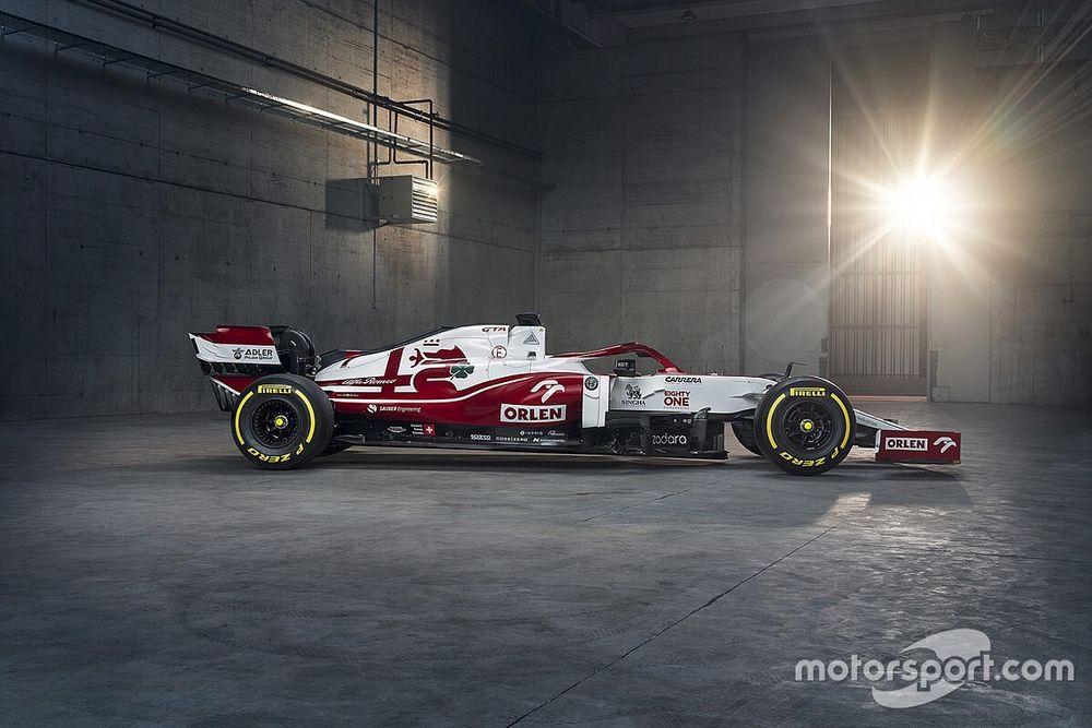 F1: Alfa Romeo revela identidade do C41, carro para a temporada 2021, com mudanças na pintura