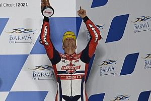 Podium Emosional Di Giannantonio di Moto2 Qatar
