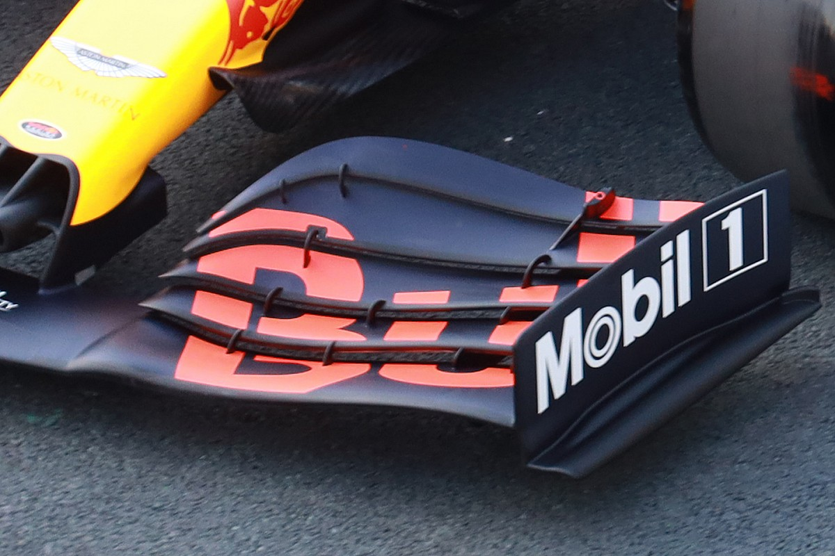 Red Bull: l'ala anteriore di Max era di nuova concezione