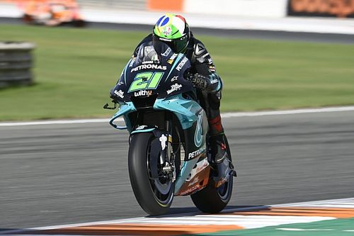 Un nuevo problema con los Michelin le costó la carrera a Morbidelli en Valencia