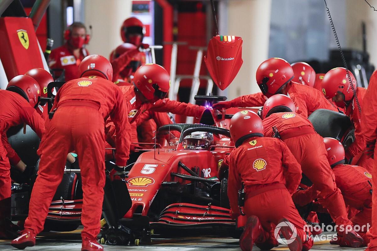 Ferrari explains cause of slow pitstops in 2020 F1 season