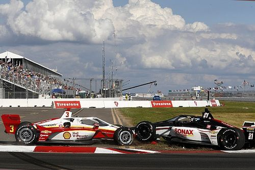McLaughlin upbeat despite crash on IndyCar debut