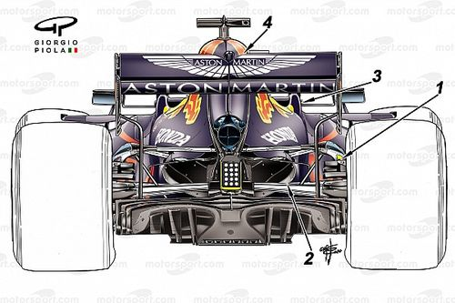 F1: las mejoras del Red Bull para acercarse al Mercedes