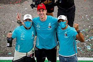 """Hamilton califica de """"increíble"""" el séptimo título de Mercedes"""