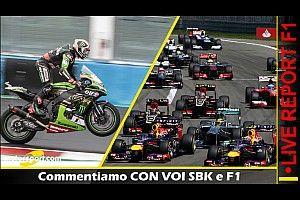 REPORT LIVE: commentiamo CON VOI F1 e SBK