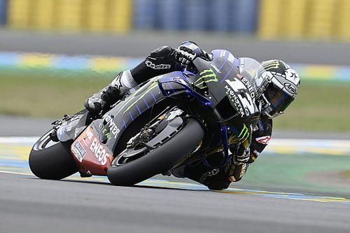 MotoGPアラゴンFP1:難コンディションに転倒続出。トップ3をヤマハ勢が占める