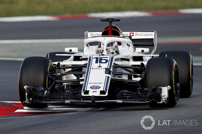 Sauber: è stata strumentata l'ala anteriore della C37 di Leclerc
