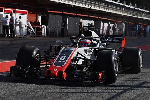 Test Barcellona, Giorno 1, Ore 11: Grosjean al top con le hypersoft