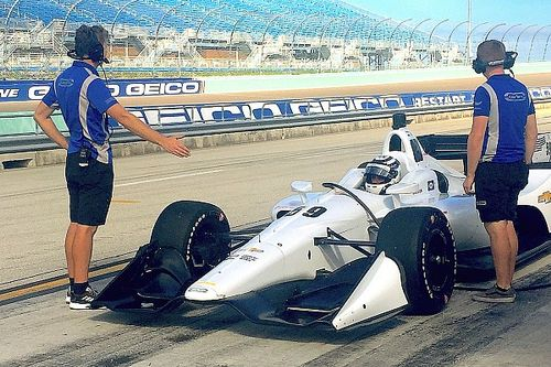 "Carlin ""excited and quite emotional"" after first IndyCar test"