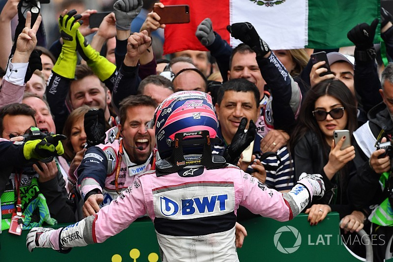 VIDEO: así festejó Sahara Force India con Sergio Pérez
