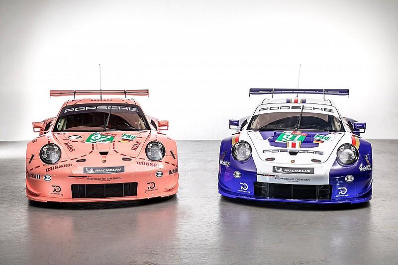 Porsche llevará una decoración retro en sus GTE de Le Mans