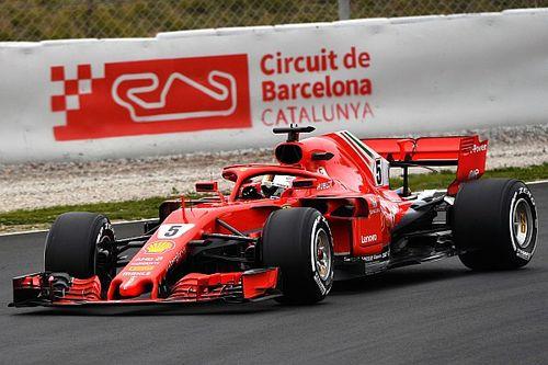 Snelste tijd Vettel, Verstappen kent dag met twee gezichten