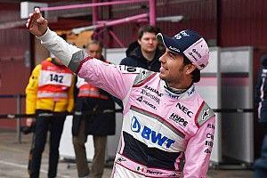 Sergio Pérez probará el VJM11 el jueves