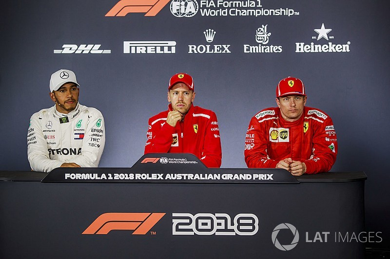 Las palabras entre Hamilton y Vettel solo fueron broma
