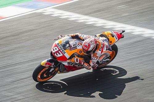 Márquez también es el más rápido en mojado; las Ducati, a la Q1