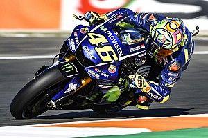 Rossi se vio afectado por el bajo agarre del circuito