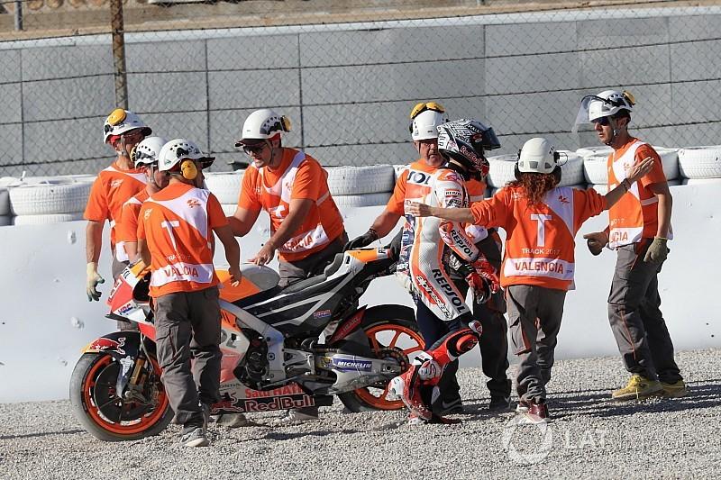Terjatuh saat FP2, Marquez: Saya harap ini yang terakhir