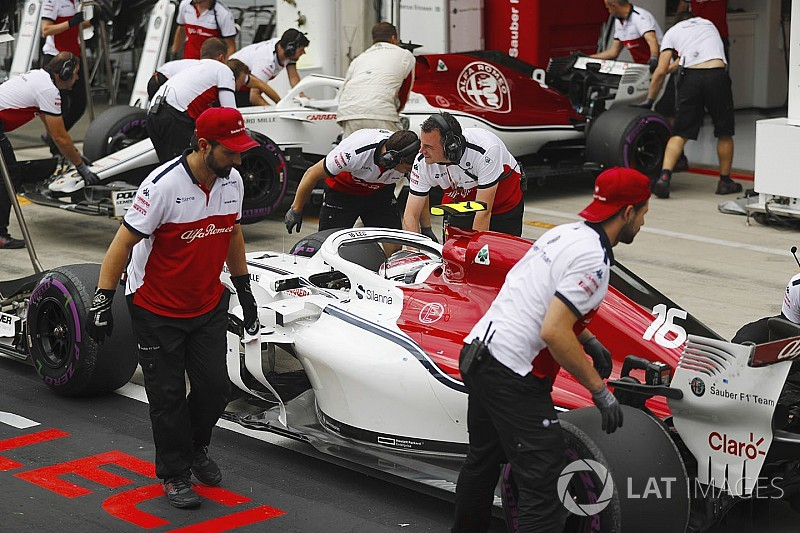 La pénalité de Leclerc causée par un bris de suspension