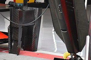 Ferrari: c'è anche un profilo che unisce i due lati dei turning vanes della SF71H